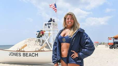 Jones Beach veteran lifeguard Tammy McLoughlin, 53, of