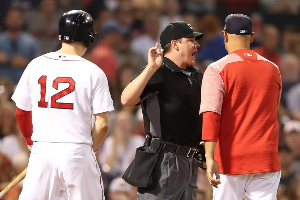 BOSTON, MA - JULY 25: Home plate umpire