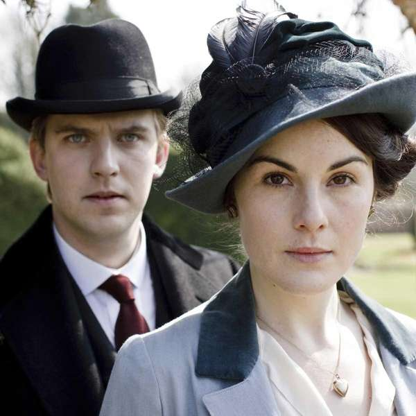 "Dan Stevens and Michelle Dockery star in ""Downton"