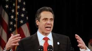 New York Gov. Andrew Cuomo delivers his second