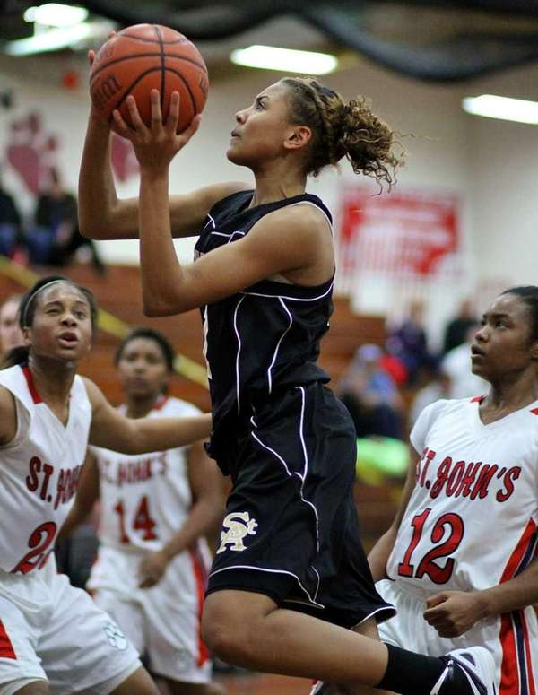 St. Anthony's Chastity Taylor #1 goes for a