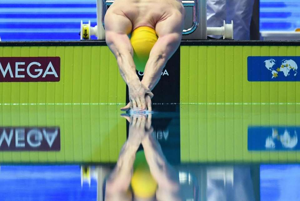 Australia's Matthew Wilson competes in the final of