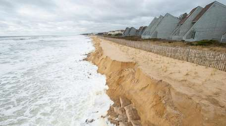 Montauk is fighting erosion by replenishing its beach