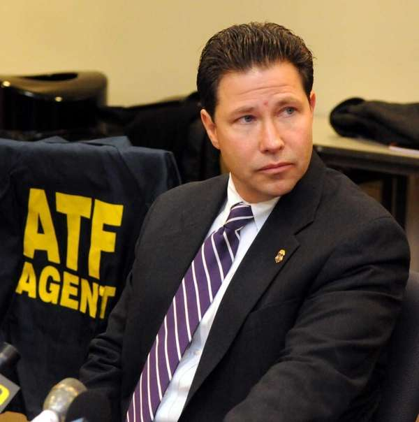 Eric Immesberger, ATF resident agent in charge, speaks