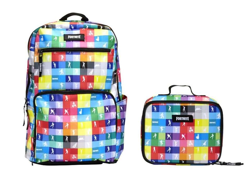 This bright backpack features some of the Fortnite