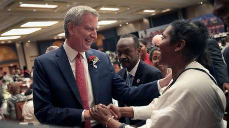 Democratic presidential candidate and New York City Mayor