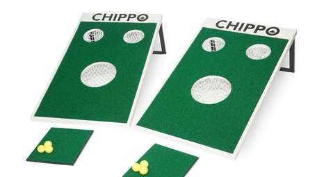 Part cornhole, part golf, this Chippo Golf Ultimate