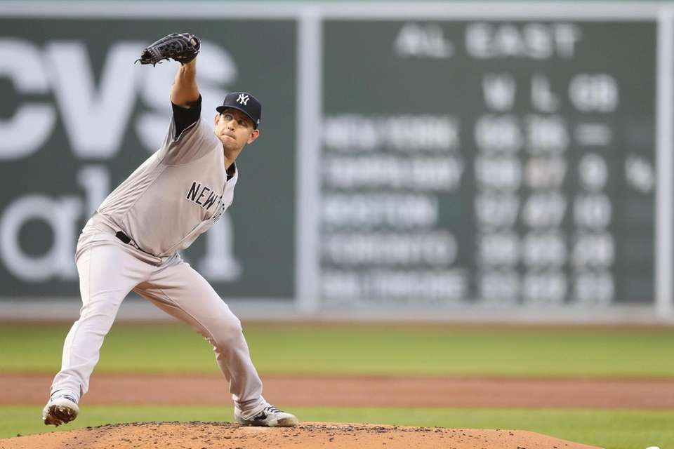 James Paxton #65 of the Yankees pitches in