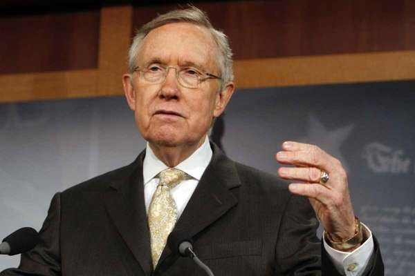 Senate Majority Leader Harry Reid of Nevada speaks