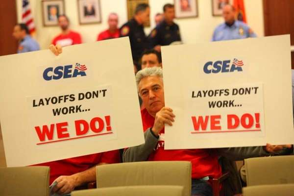 Bill Behr and Chris D'Angelo, both CSEA workers