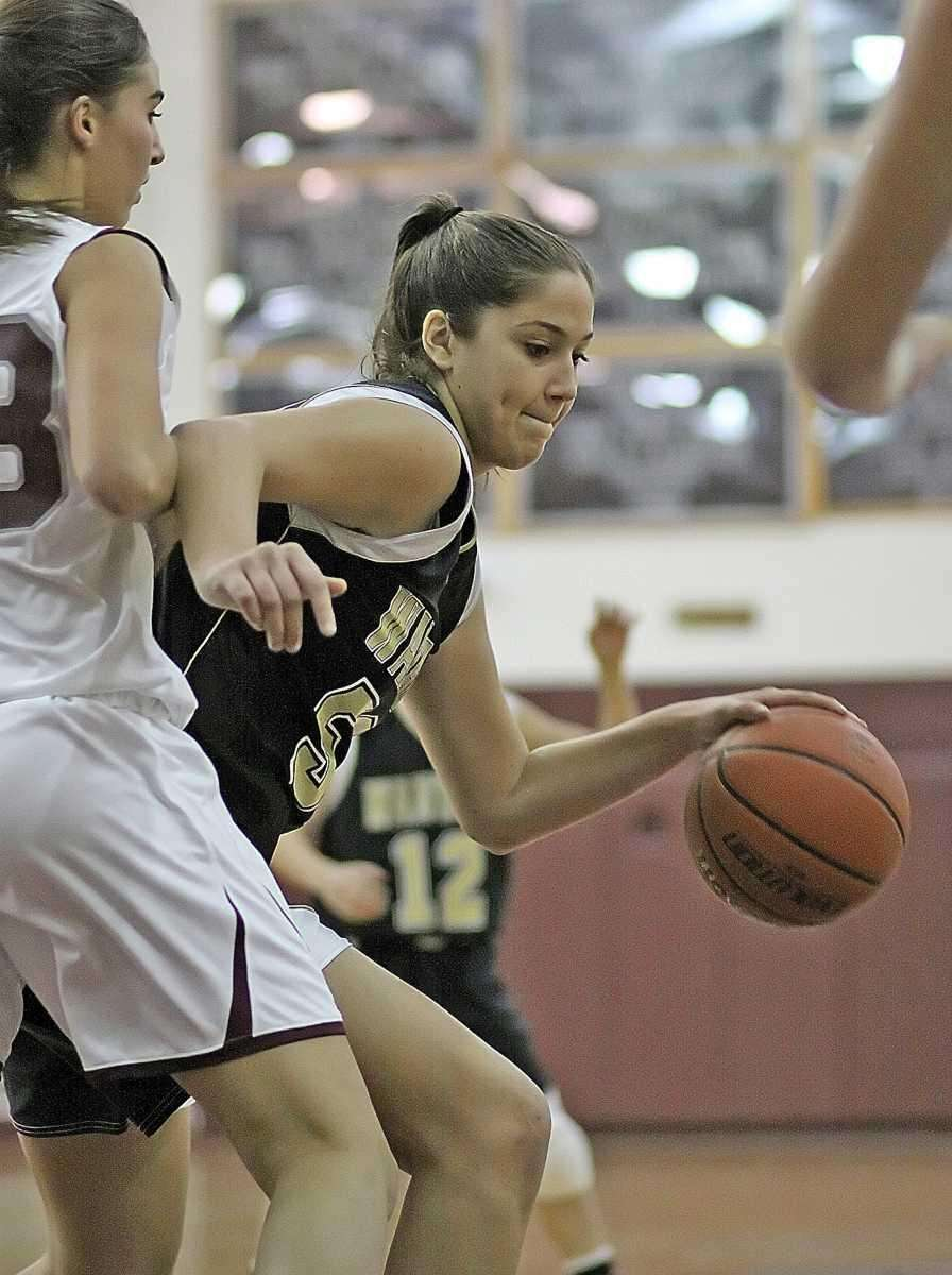 Wantagh's Alex Parlato moves inside. (Jan. 5, 2012)