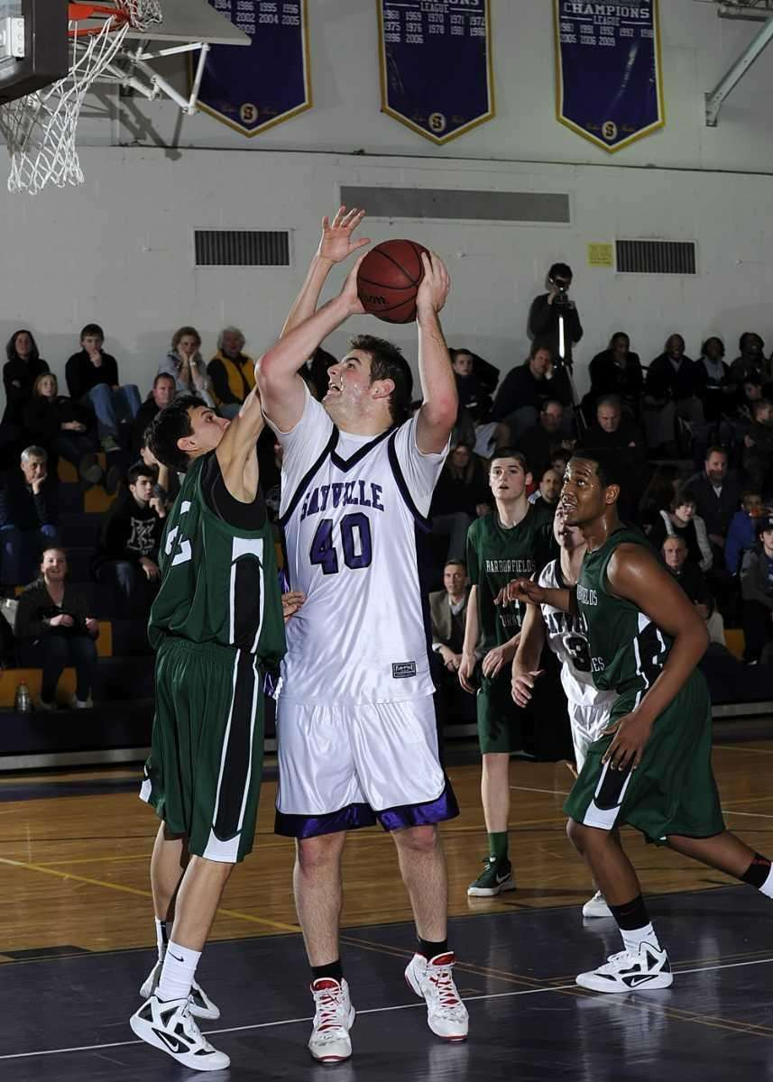 Sayville's Rich Geiger goes up for the shot