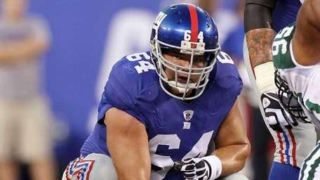 David Baas #64 of the New York Giants