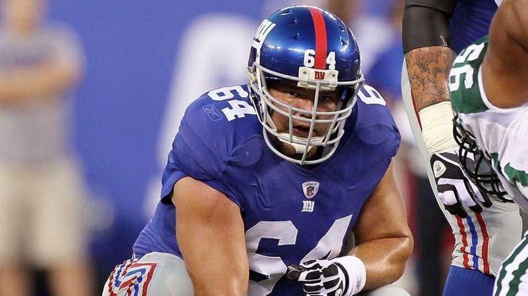 David Baas #64 of the New York Giants
