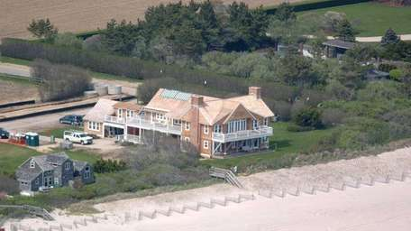 Billy Joel's oceanfront home in Sagaponack. The home