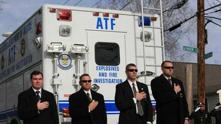 ATF agents salute to honor ATF agent John