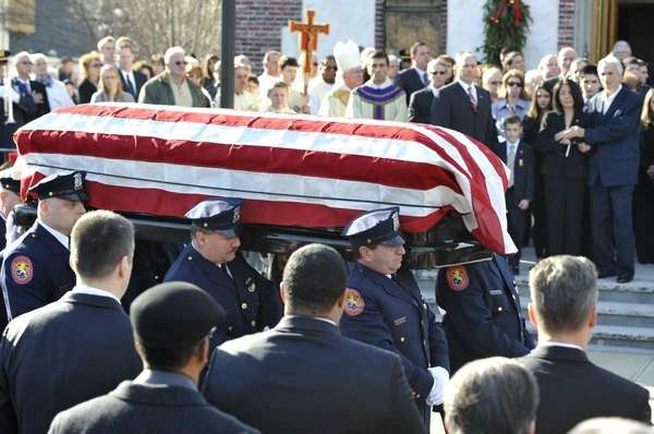 The casket of ATF Senior Special Agent John