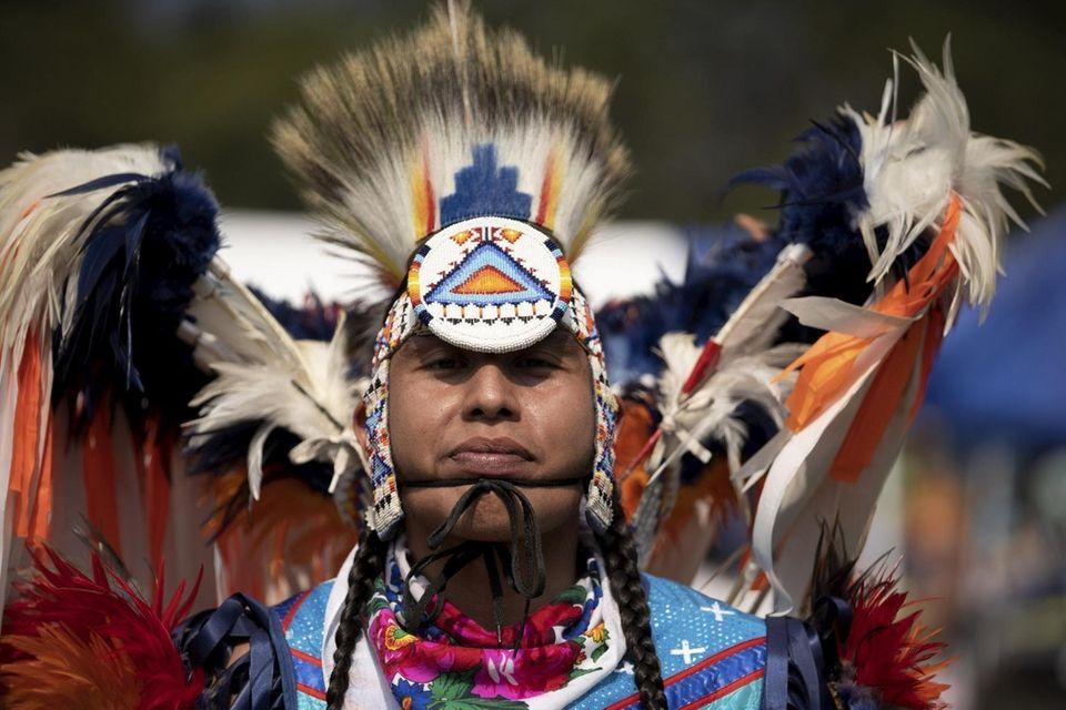 Scott Sinquah, 25, of the Pima tribe is
