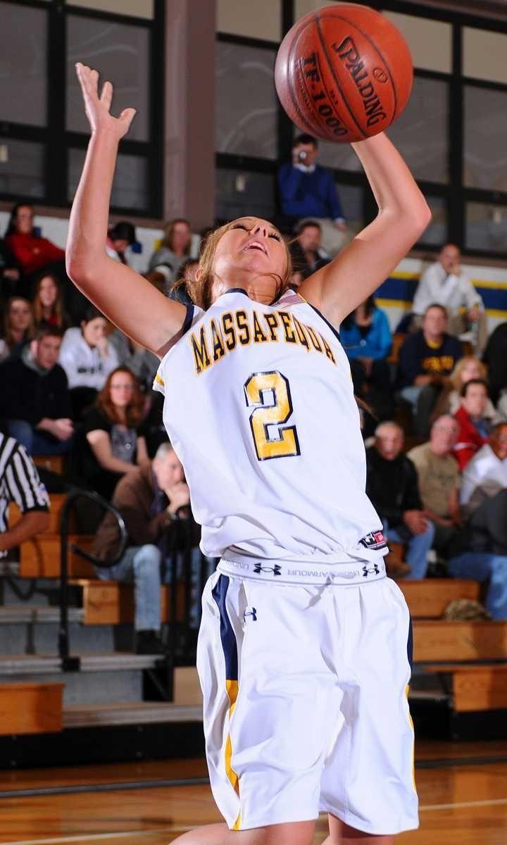 Massapequa High School junior #2 Danielle Doherty grabs