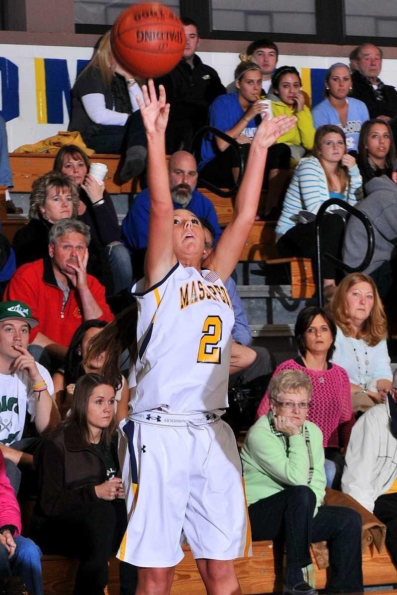 Massapequa High School junior #2 Danielle Doherty shoots
