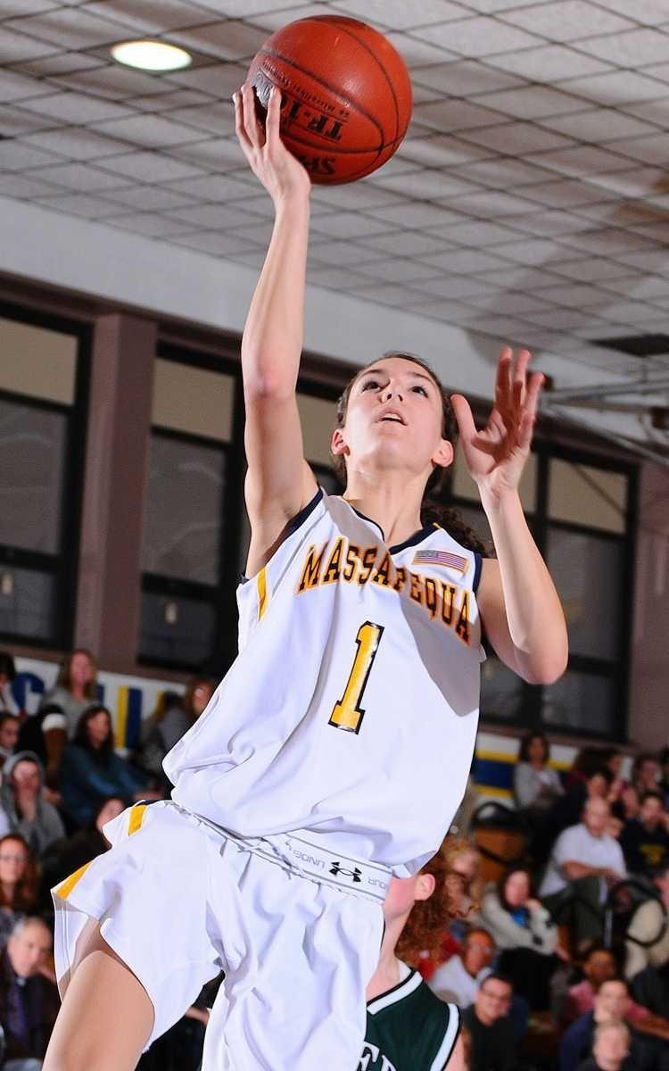 Massapequa High School junior #1 Morgan Roessler drives