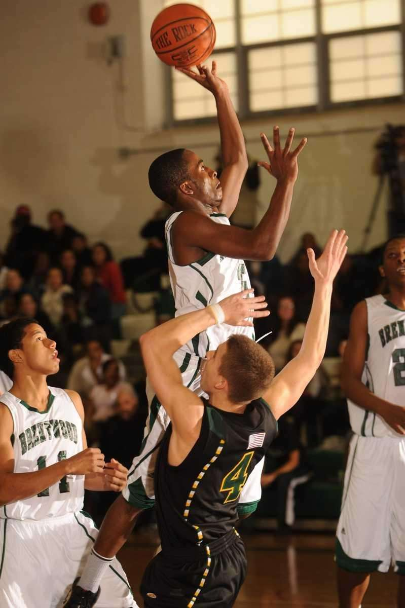 Brentwood's #30 Joshua Crooms gets a shot up
