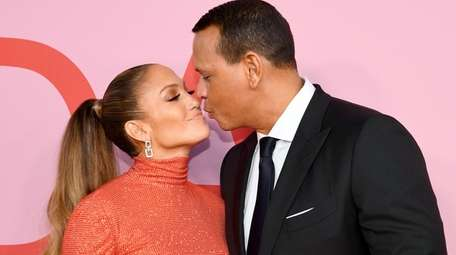 Jennifer Lopez and Alex Rodriguez attend the CFDA