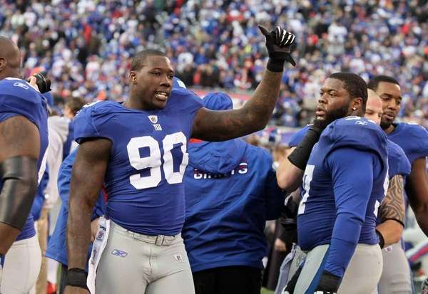 Jason Pierre-Paul celebrates during the NFC Wild Card