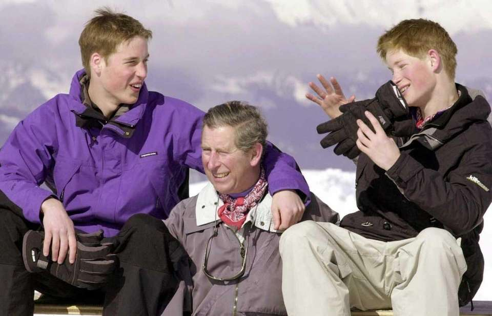 The prince of Wales and his sons, Prince