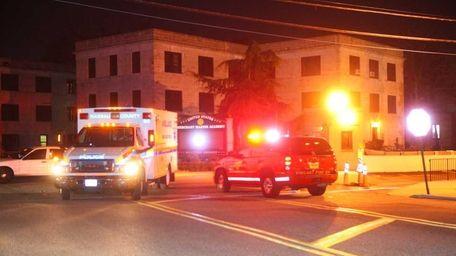 Emergency crews respond to the United States Merchant