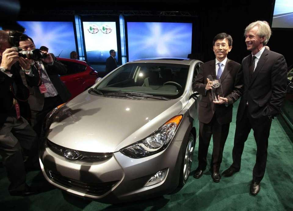 The 2012 Hyundai Elantra was named Car of