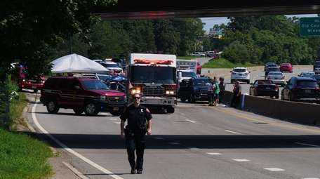 State Police investigate a four-vehicle crash that killed