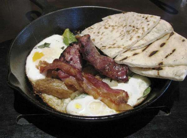 """Country 'cast iron' breakfast"" is among the offerings"