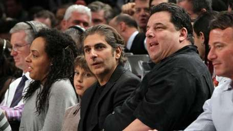 Steve Schrippa (R) and Michael Imperioli attend the