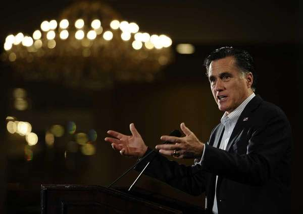 Republican presidential hopeful Mitt Romney attends a Nashua