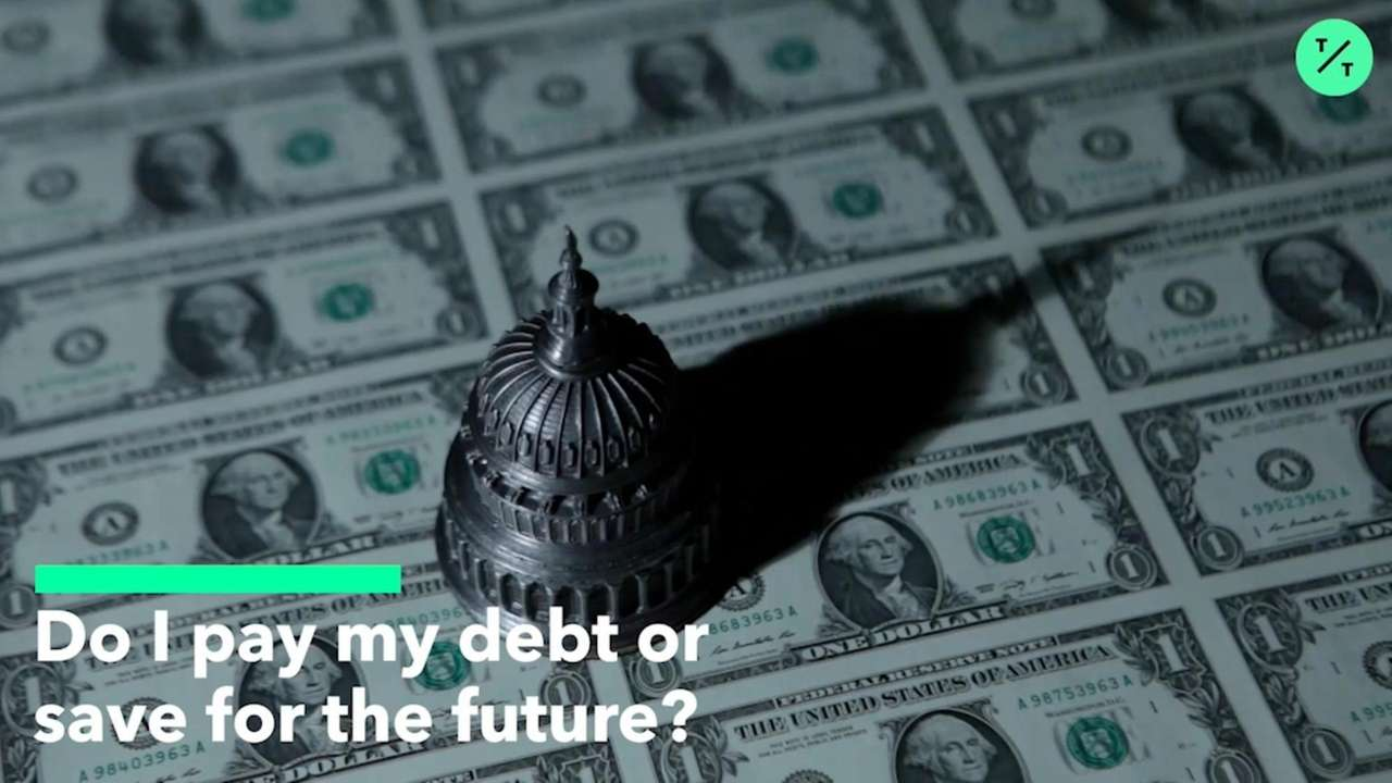 Young people are torn: pay off their debt