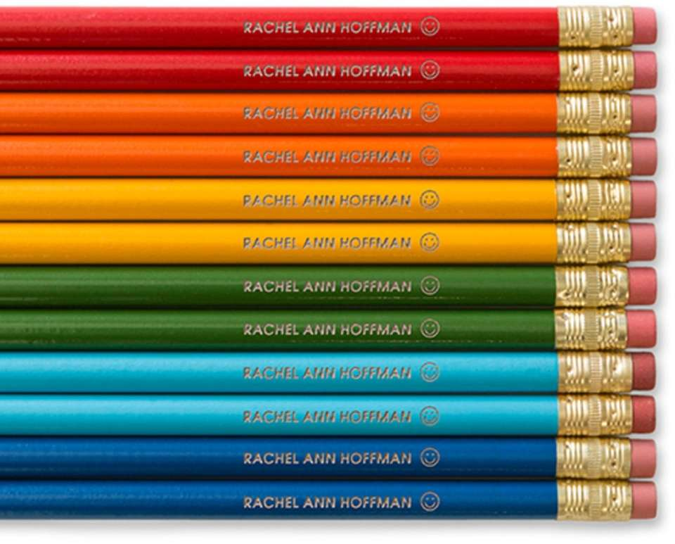 These pencils can be customized with encouraging messages