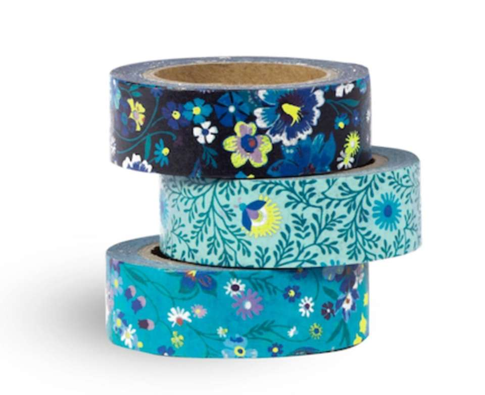 These rolls of tape feature floral designs and