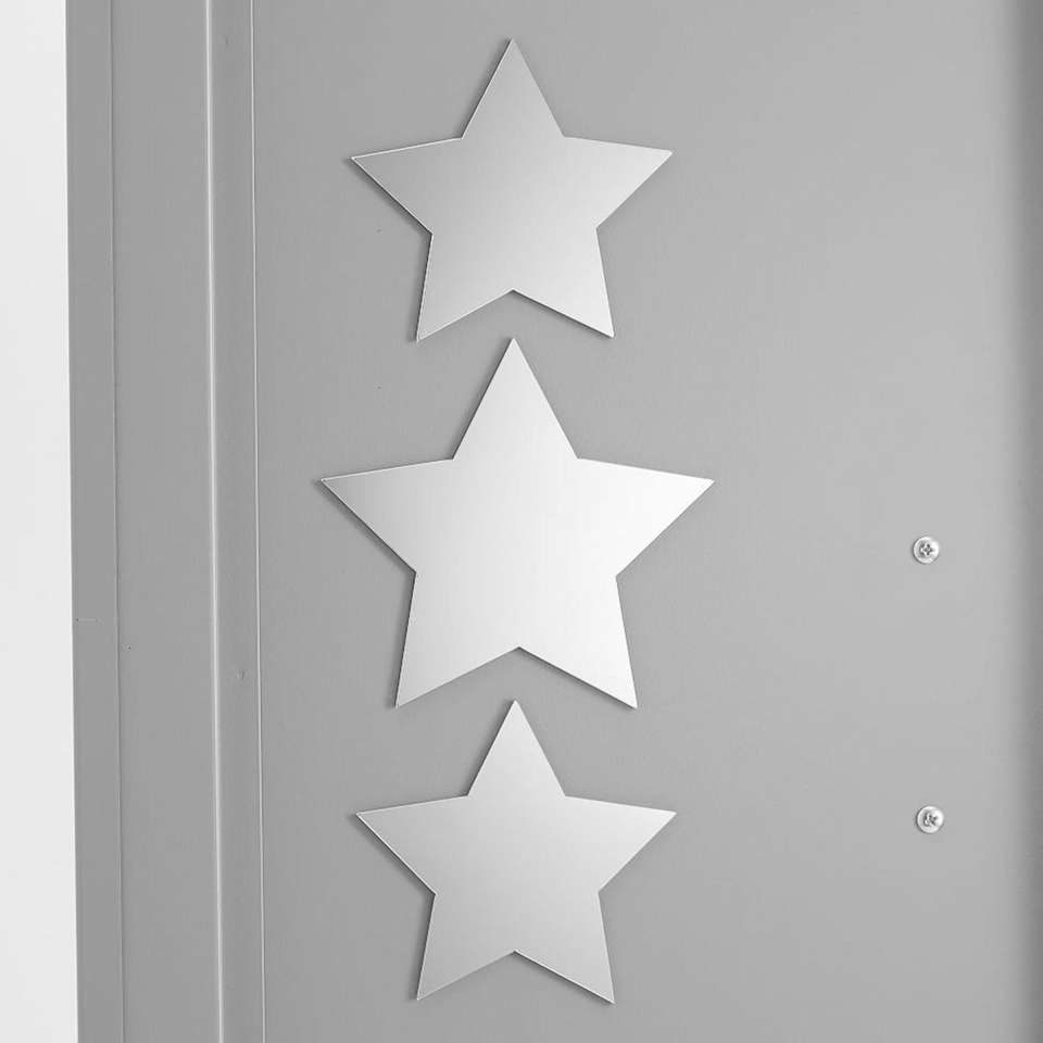 These star decals function as fun decorations for