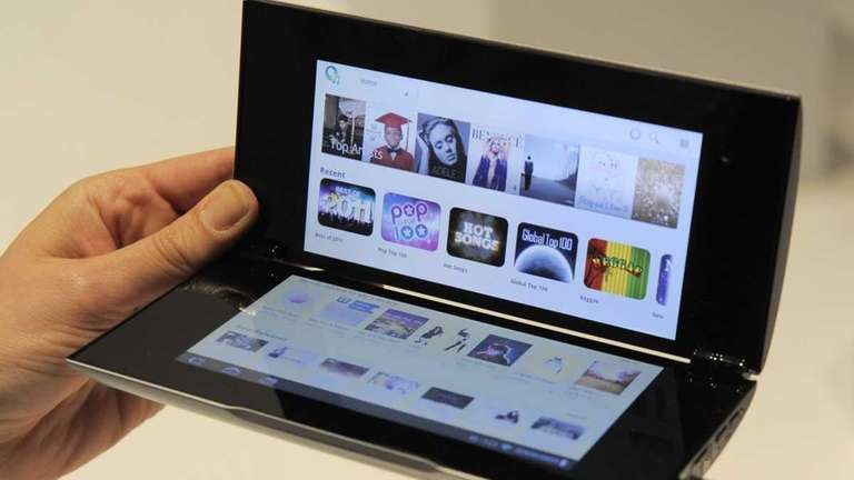 The Sony Tablet P, which is due out