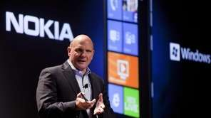 Microsoft chief executive Steve Ballmer talks about the