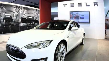 The Tesla Model S Signature is shown during