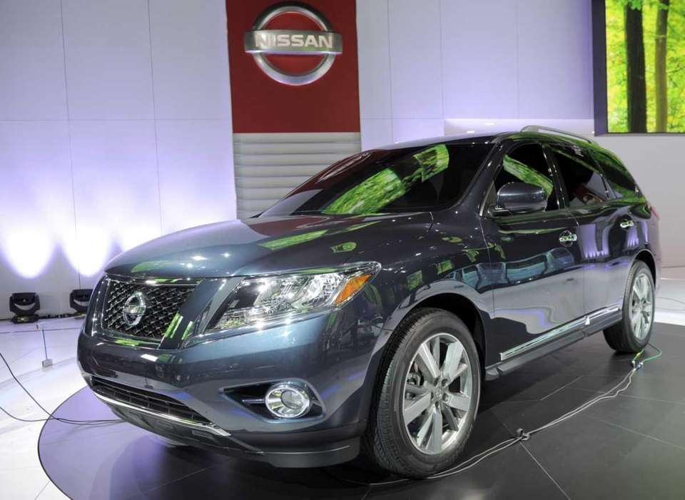 The Nissan Pathfinder SUV concept vehicle is introduced