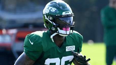 Jets running back Le'Veon Bell during training camp