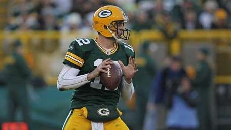 Aaron Rodgers #12 of the Green Bay Packers.