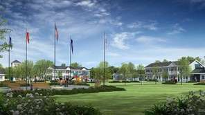 An artist's rendering of housing proposed for veterans