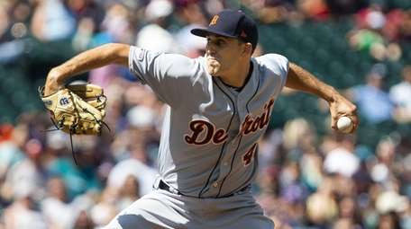 Tigers pitcher Matthew Boyd delivers in the sixth