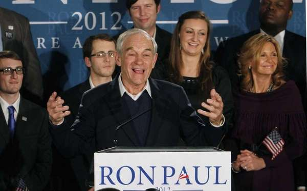 Republican presidential candidate, Rep. Ron Paul, R-Texas, speaks