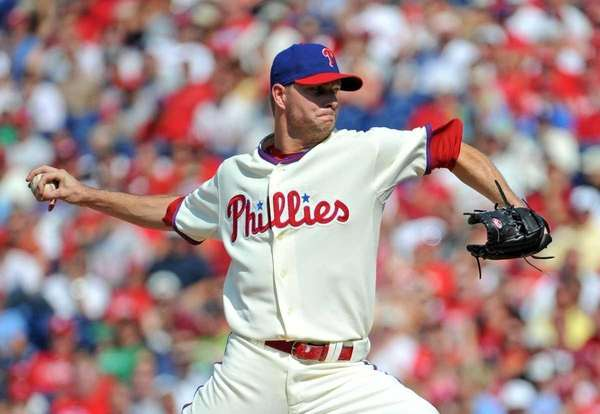 Philadelphia Phillies closer Ryan Madson throws in the