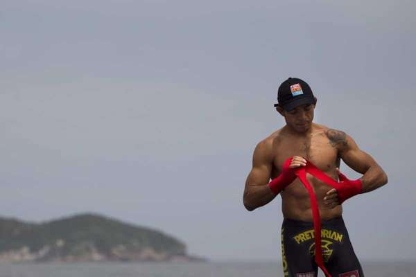 Jose Aldo prepares to train during UFC Rio